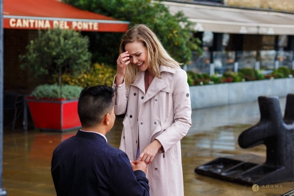 London Engagement Proposal Photographer Tower Bridge